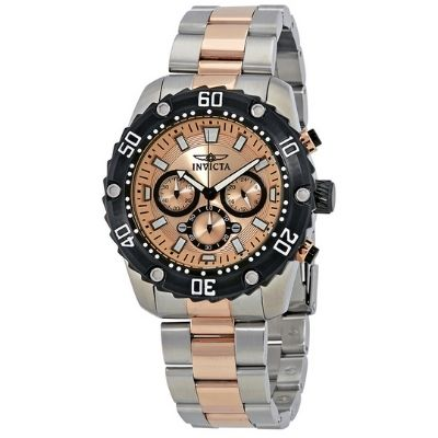 Invicta Pro Diver Chronograph Rose Dial Men's Watch 22520