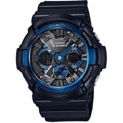 Casio G-Shock Black and Blue Ana-Digi Watch GA200CB-1A
