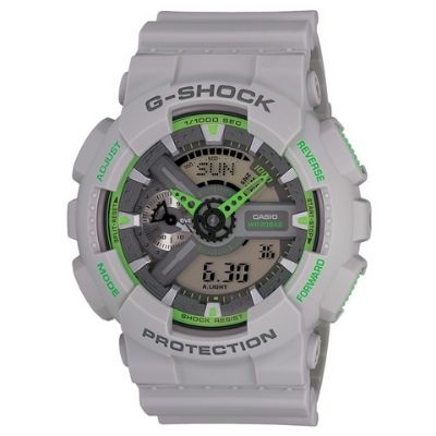 Grey G-Shock Analog Digital Watch GA110TS-8A3