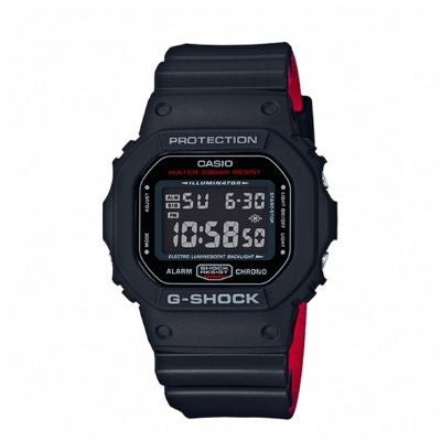 Casio G-Shock DW5600HR-1 Digital Resin Men's Watch Black and Red