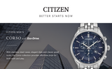 Citizen Men's Corso w/ Eco-Drive Chronograph Stainless Steel Watch with Date, AT2141-52L