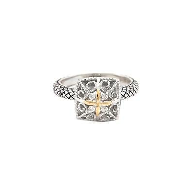 Andrea Candela Sterling Silver Ring With 18KT & Diamonds, Andrea ll