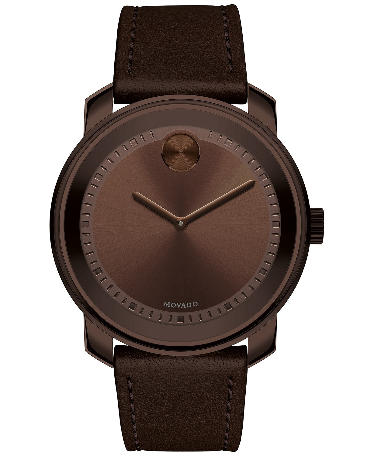 Movado Bold Large Brown Watch With Brown Strap