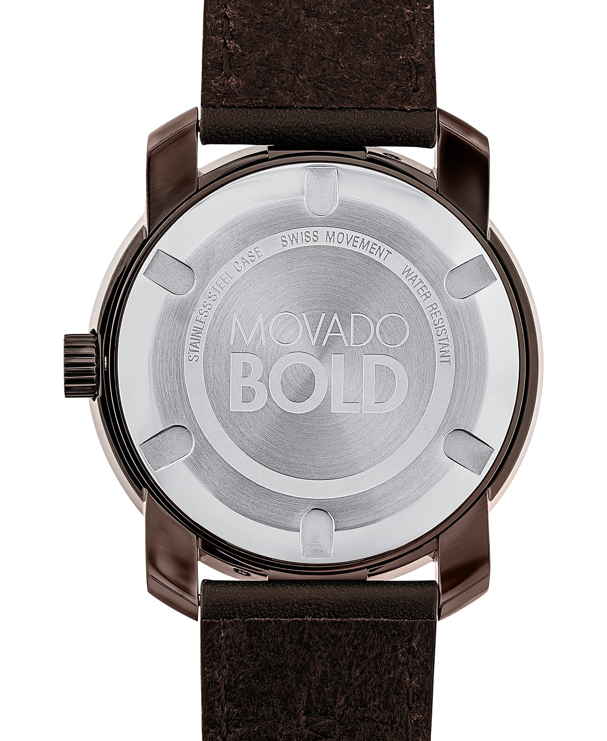 Movado Bold Large Brown Watch With Brown Strap 3600377