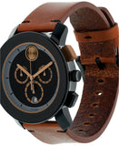 Movado Men's Cognac Leather Strap Watch