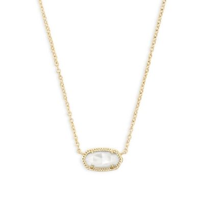 Kendra Scott Elisa Necklace Gold Ivory Mother of Pearl