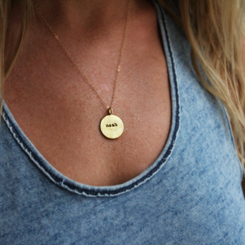 Slate & Tell - Personalized Large Round Pendant