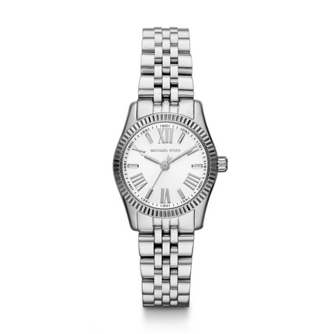 Michael Kors Women's Lexington Silver Tone Glitz Watch