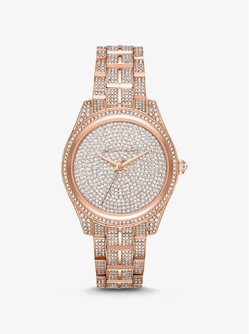Michael Kors Lauryn Pavé Rose Gold-Tone Watch MK3931