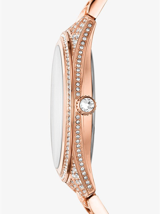 Michael Kors Lauryn Pavé Rose Gold-Tone Watch