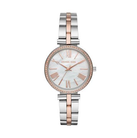 Michael Kors Women's Maci Three-Hand Two-Tone Watch