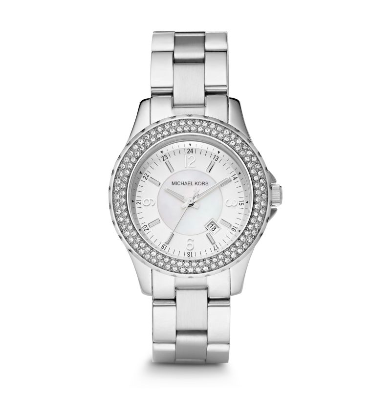 Michael Kors Silver-Tone Glitz Madison Women's Watch