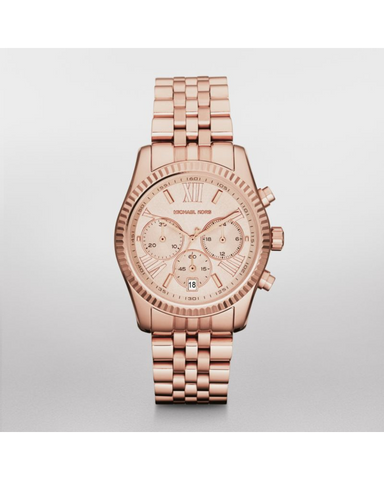 Michael Kors Women's Rose Gold-Tone Lexington Watch