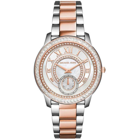 Michael Kors Women's Silver Rose Gold Madelyn Watch