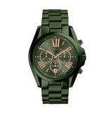 Michael Kors Men's Bradshaw Olive IP Chronograph Watch