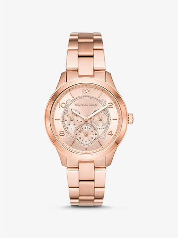 Michael Kors Women's Runway Rose Gold-Tone Watch