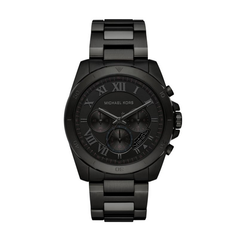 Michael Kors Men's Brecken Black IP Chronograph Watch
