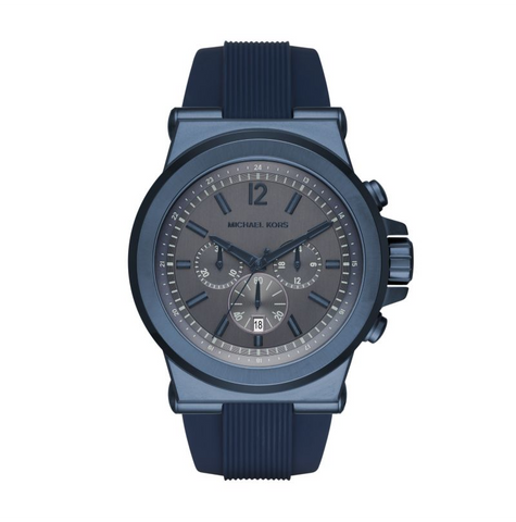Michael Kors Men's Dylan Navy Silicone Chronograph Watch