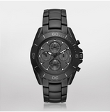 Michael Kors Men's JetMaster Black IP Chronograph Watch