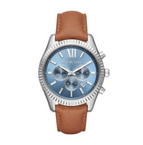 Michael Kors Lexington Luggage Leather Watch