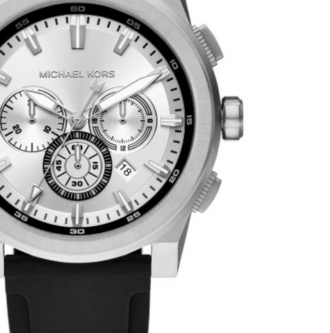 Michael Kors Men's Grayson Black Silicone Chronograph Watch