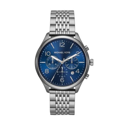 Michael Kors Men's Merrick Chronograph Gunmetal Watch