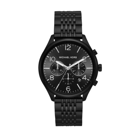 Michael Kors Men's Merrick Chronograph Black IP Watch