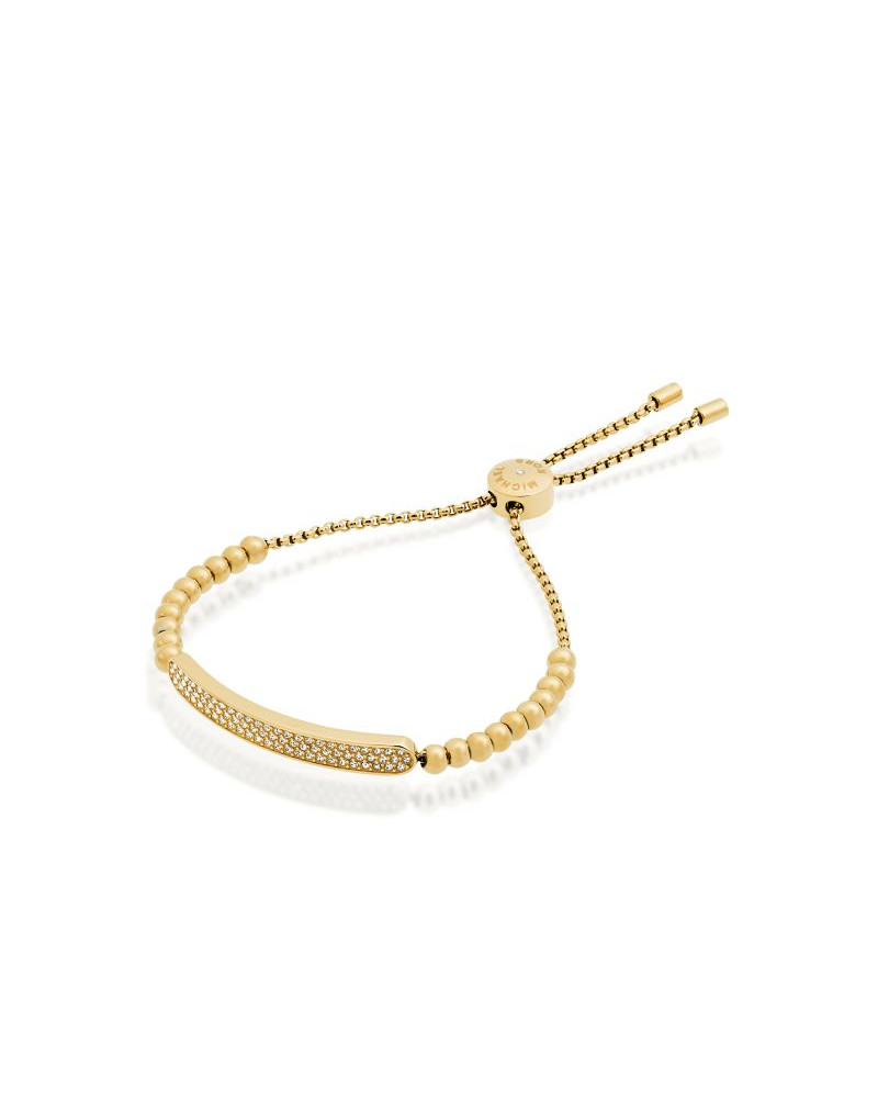 Michael Kors Plaque Beaded Bracelet