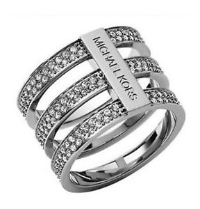 Michael Kors Silver Tri Stack Ring
