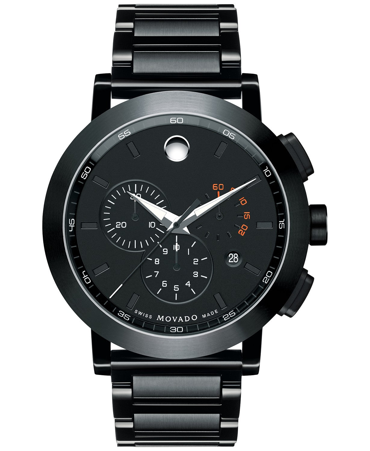 Movado Museum® Sport  PVD Men's Watch with Black Dial 0607001