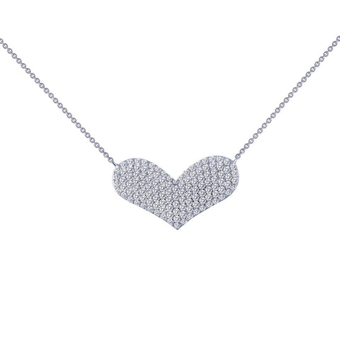 Lafonn Wide Heart Necklace