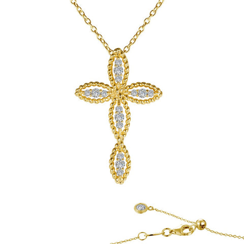 Lafonn Gold-Plated Cross Necklace
