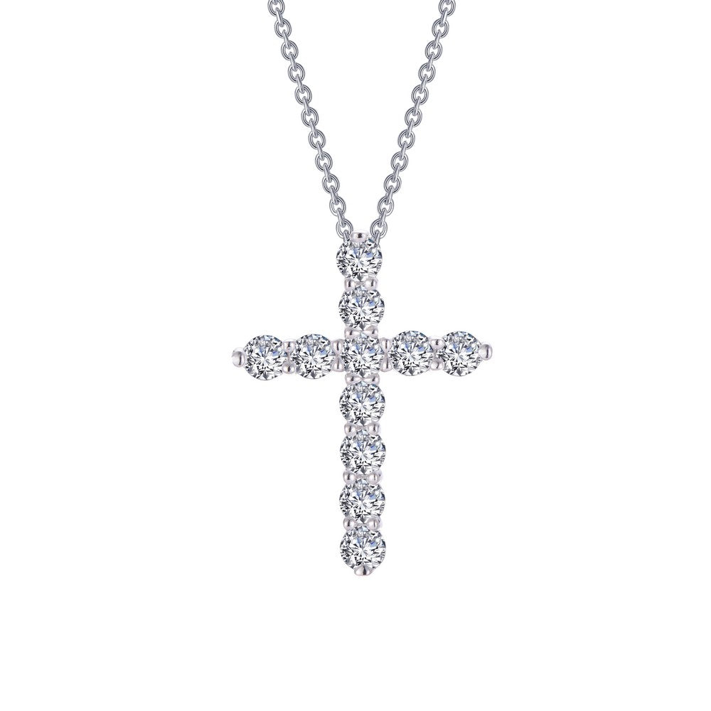 Lafonn Silver Cross Necklace