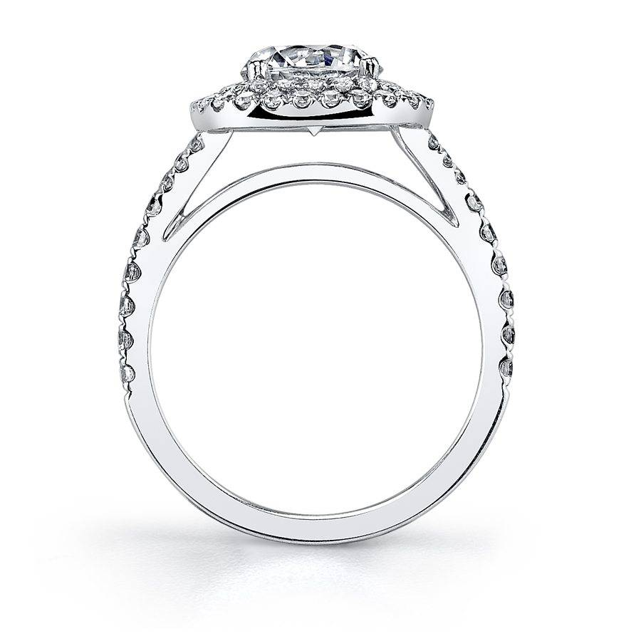 Sylvie - Marielle Classic Double Cushion Halo Engagement Ring