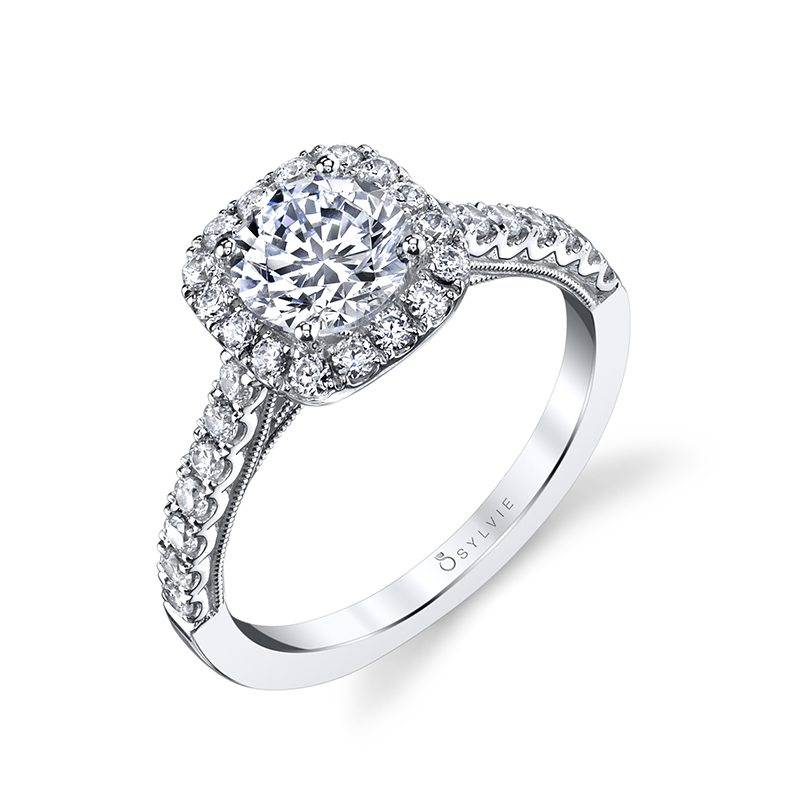 Sylvie - Diandra Halo Engagement Ring