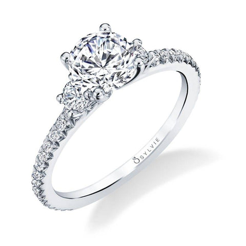 Eloise - Classic Three Stone Engagement Ring