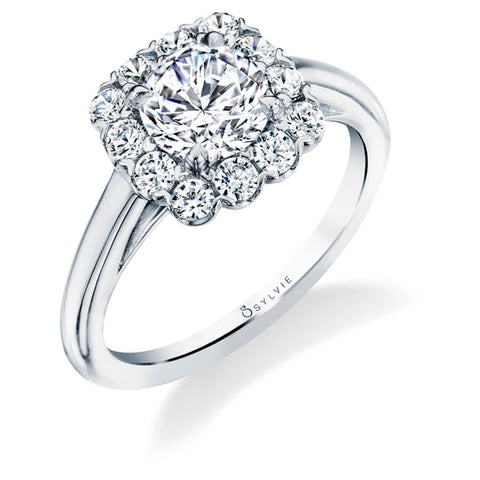 Sylvie - Chloe Classic Cushion Halo Engagement Ring