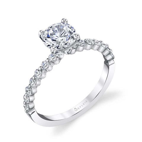 Sylvie - Athena Round Solitaire Engagement Ring