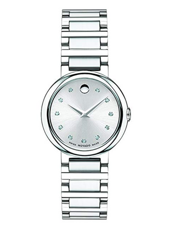 Movado Women's Concerto Stainless Watch w/ Diamond