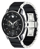 Movado Men's Strato Silver-Tone & Black PVD Watch