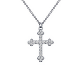 LaFonn Budded Cross Necklace