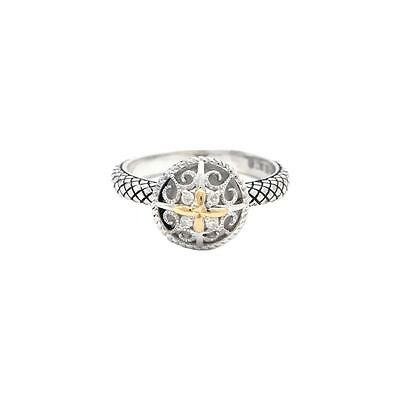 Andrea Candela 18kt and Sterling Silver Diamond Ring, Andrea ll
