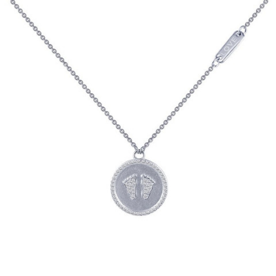 LaFonn Sentimedals Footprint Necklace