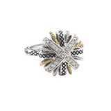 Andrea Candela 18K, Sterling Silver & Diamond Ring, Lazo de Brilliantes