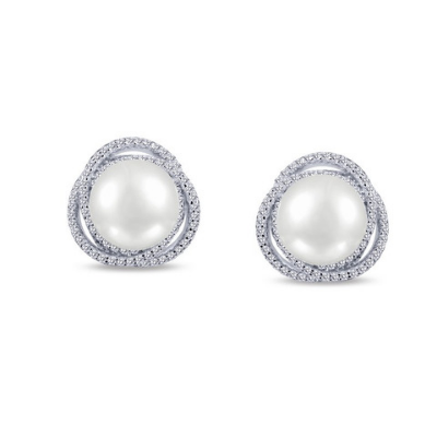 Lafonn Fresh Water Pearl Earrings