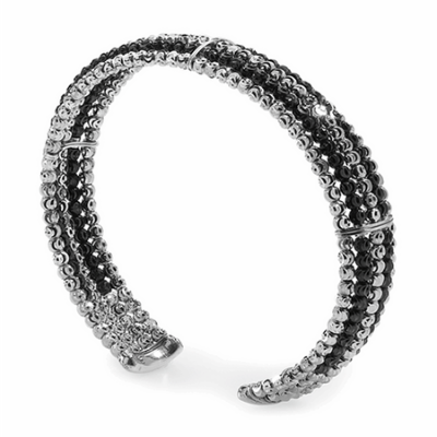 Officina Bernardi 5 Row Cuff Moon Bead Bracelet