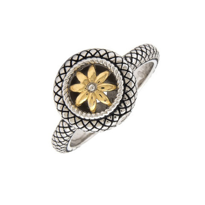 Andrea Candela 18KT And Sterling Silver Ring, Enamorada