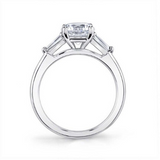 Sylvie - 3 Stone Diamond Engagement Ring