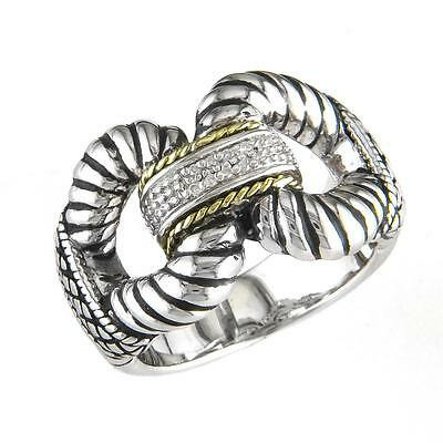 Andrea Candela 18KT, Sterling Silver Ring w/ Diamonds, Lazo Collection