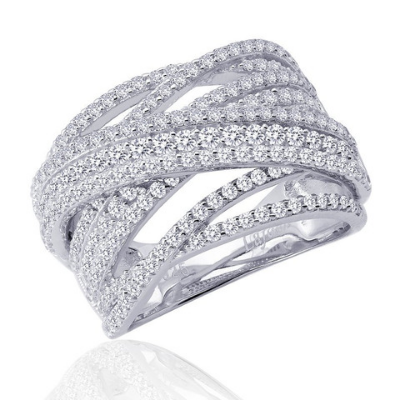 LaFonn Pave Cris-Cross Ring